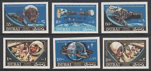 Émirats Arabes Unis Dubaï 5797 - 1967 Gemini Space Imperf Set De 6 Non Montés Comme Neuf-afficher Le Titre D'origine