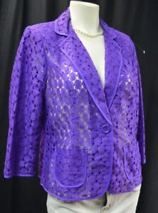 con Blazer S Light texture Sz Coat Semi 1 M Chico Chicos Jacket pizzo Spring Nuovo Top THOw5n8Exq