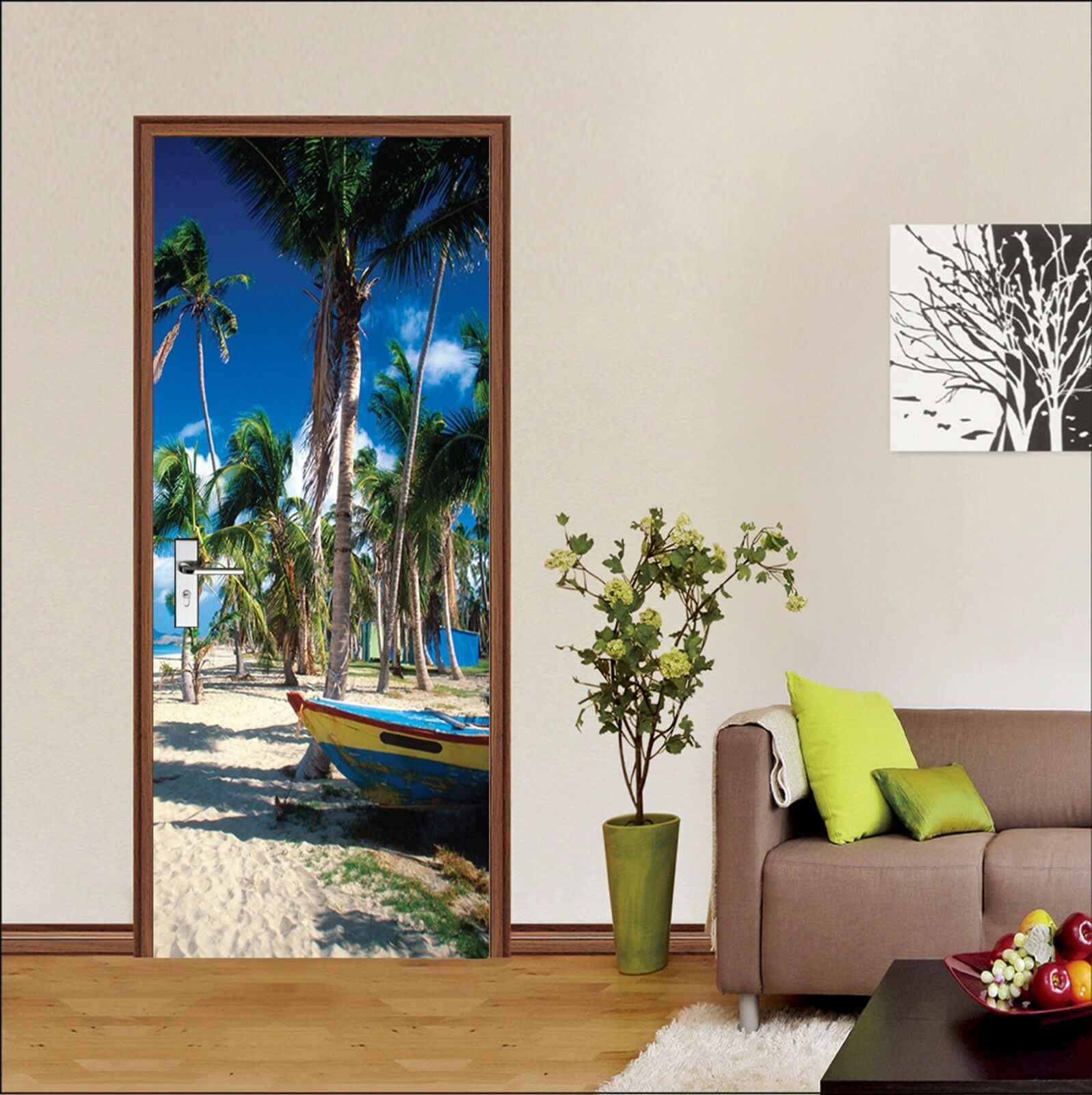 3D Strand 743 Tür Wandmalerei Wandaufkleber Aufkleber AJ WALLPAPER DE Kyra  | Beliebte Empfehlung  | Am praktischsten  | Großer Räumungsverkauf