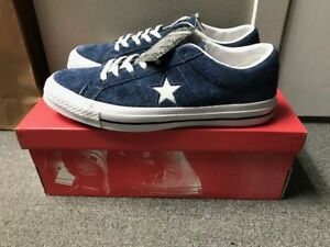 Converse One Star Ox Premium Suede Low Top Navy White U Pick Size ... d16b4d8d6