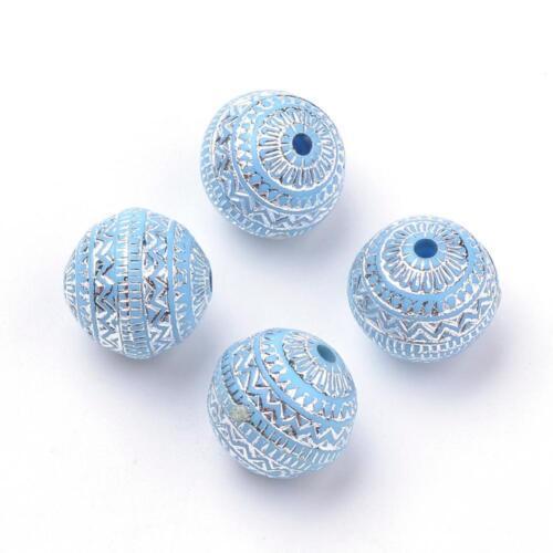 2160 5 mm de acrilo perlas artes decorativas azul-plata Abalorios acrílicos 50 11