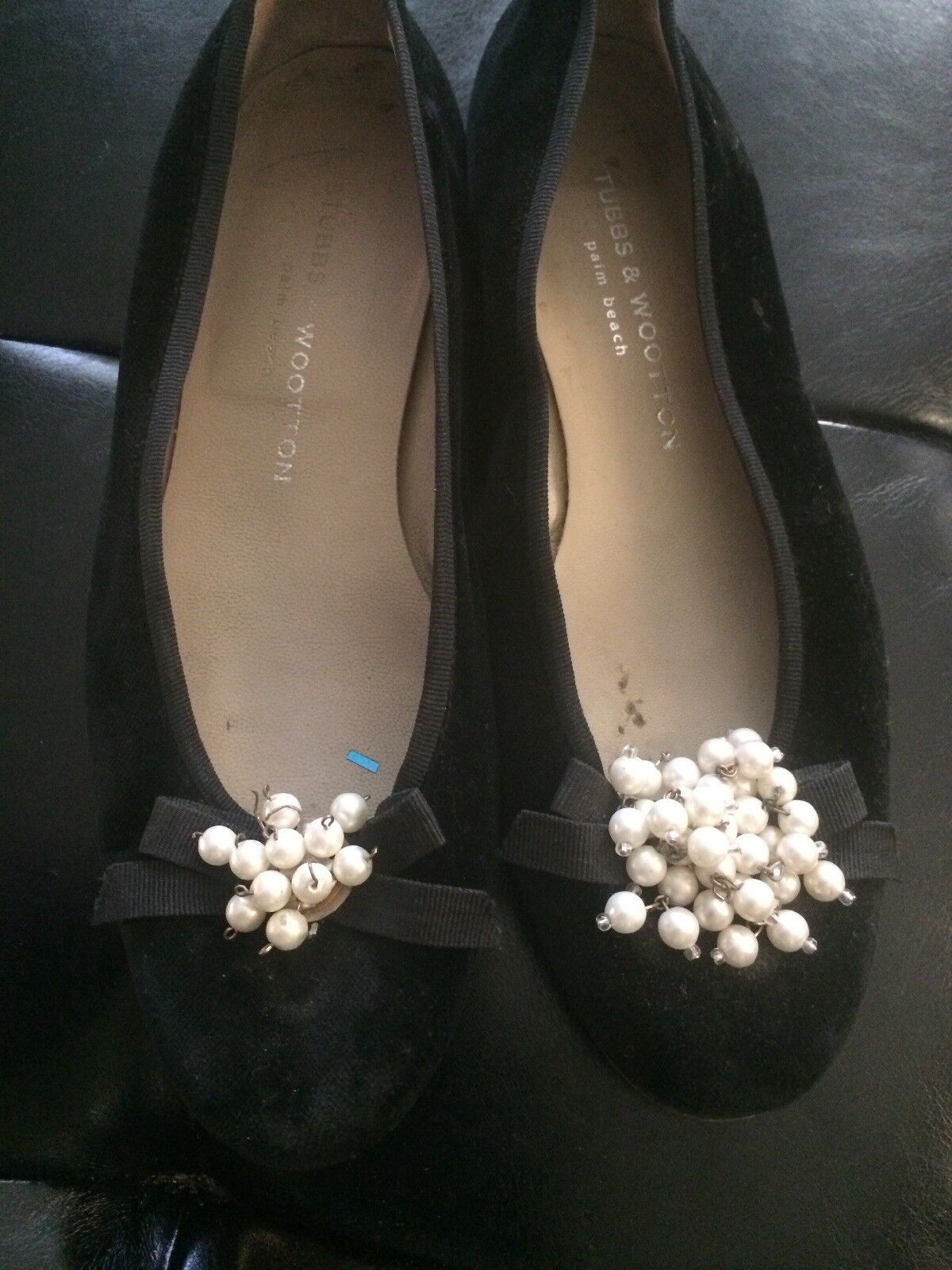 CUTE! $450 Stubbs and Wootton Suede&Leether / Beads Loafers 9