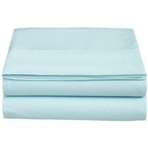Elegant Comfort King Size Fitted Sheet ~ 1500 Thread Count ~ Aqua Blue