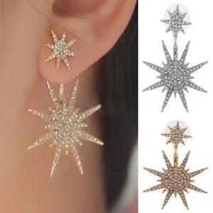 1pcs-Women-Crystal-Rhinestone-Dangle-Gold-Silver-Star-Ear-Stud-Earring-Jewelry