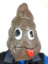 Doo Doo Head Mask Latex Poo Costume Funny Poop Prank Joke Mr Hankey S**thead