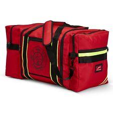 Line2design Firefighter Jumbo Turnout Gear Bag With Padded Shoulder Strap Red