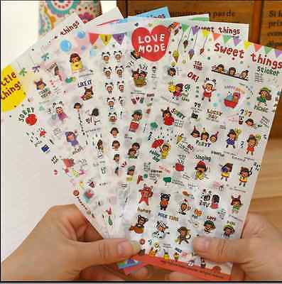 6sheets girl sweet things stationery diary  notebook  album calendar stickers