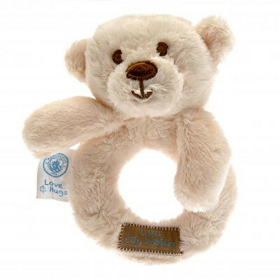 Considerate Manchester City F.c - Baby Rattle (hugs) - Gift