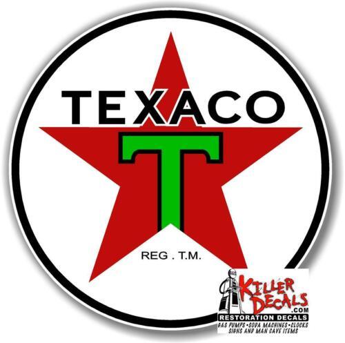 "6/"" PRE WAR TEXACO GASOLINE GAS PUMP SIGN TANK DECAL TEXA-8"