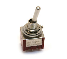 """(1) Chrome """"Bat"""" Lever ON-ON-ON DPDT Mini Toggle Switch Guitar/Bass EP-4180-010"""