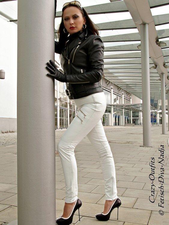 Lederhose Leder Hose white Knalleng Maßanfertigung
