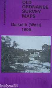 OLD-ORDNANCE-SURVEY-DETAILED-MAPS-DALKEITH-WEST-SCOTLAND-1905-SHEET-8-06-NEW