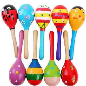 Colorful-Wooden-Maracas-Baby-Child-Musical-Instrument-Rattle-Shaker-Party-Toy