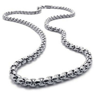"""MEN'S 2MM Silver 20"""" Stainless Steel Pearl Box Chain Necklace Fashion Pendant CN"""
