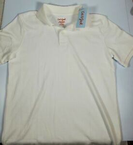 Cat and Jack Boys White Uniform Polo Shirt *2 PACK* LARGE 12//14 NWT SHIPS FAST