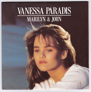 45-TOURS-VANESSA-PARADIS-MARILYN-ET-JOHN-POLYDOR-887-640-7-en-1988