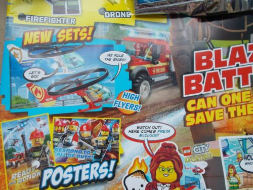 2 MINIFIGS FIREMAN DRONE POLICE BUGGY NEW LEGO CITY SPECIAL EDN MAGAZINE ED 24