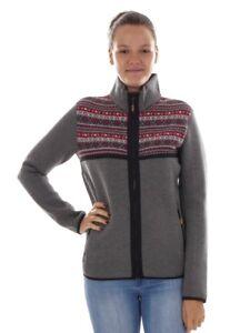 CMP-Functional-Jacket-Fleece-Jacket-Collar-Jacket-Grey-Pattern-Wooltech-Warm