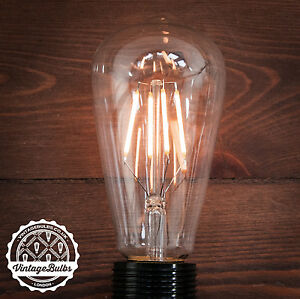 vintage style dimmable pear light bulb led retro 4w b22 and e27 st64