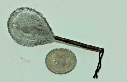Dollhouse Miniature Fishing Trout Net Handcrafted by Amy Robinson Sporting 1:12