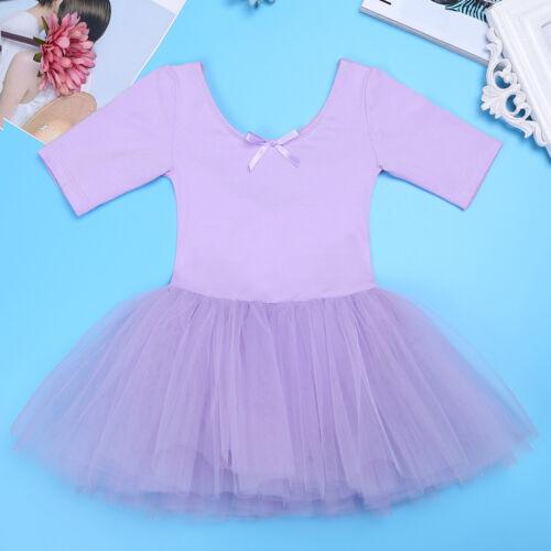 UK Girls Ballet Dress Gymnastics Leotard Tutu Costume Ballerina Swan Dance Wear