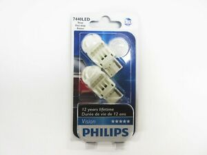 Details about Philips 7440 Intense Red Vision LED Stop and Tail light Pack  of 2