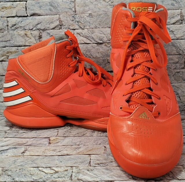 adidas Derrick D Rose Size 15 Mens Shoes Orange NBA Basketball High Top SNEAKERS