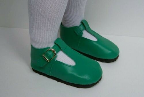 "Debs GREEN Solid T-Strap Tstrap Doll Shoes For 23/"" My Twinn Poseable"