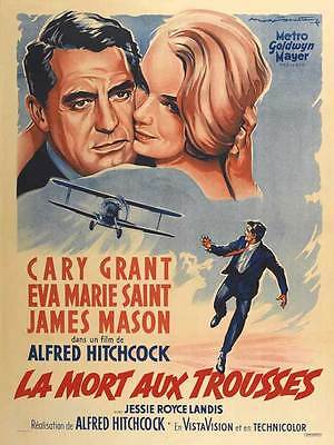 North by northwest Cary Grant vintage movie poster #14