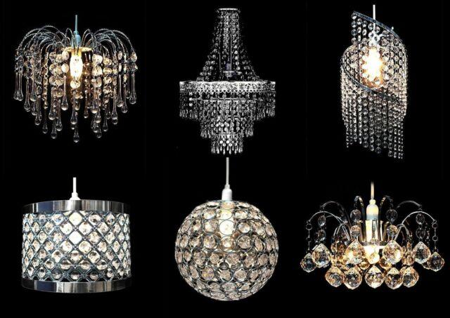Modern Chandelier Shade Acrylic Crystal Drop Pendant Ceiling Light Shades Decor