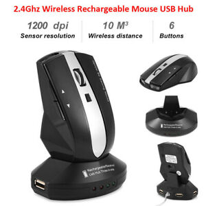 2-4GHz-Rechargeable-Wireless-Optical-Mouse-Gaming-Mice-Charging-Dock-Stand-USB-C