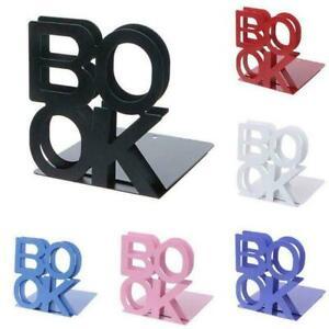 2-Pcs-Alphabet-Book-Shaped-Metal-Bookends-Iron-Support-Holder-Desk-Stands-U7Q1