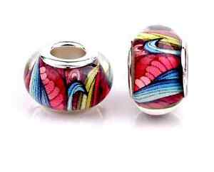 5pcs Acrylic Charms Beads Fit European Bracelet & Bangle  066