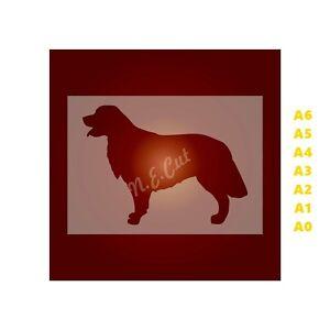 GOLDEN-RETRIEVER-Dog-Stencil-350-micron-Mylar-not-Hobby-stuff-DOGS067