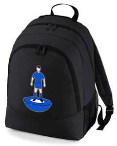Football-TEAM-KIT-COLOURS-Leicester-Supporter-unisex-backpack-rucksack-bag