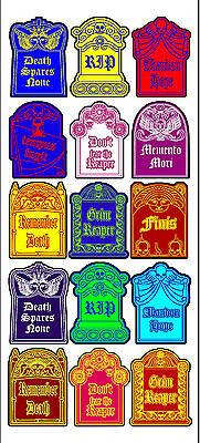 Vintage inspired Halloween 15 tombstone label stickers scrapbooking crafts