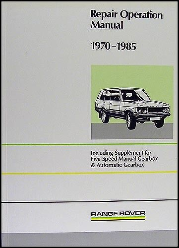 range rover workshop manual 1970 1985 3 5l v8 automatic service rh ebay com Overhaul Manual for Lycoming O-540-A1b5 Overhaul Manual for Lycoming O-540-A1b5