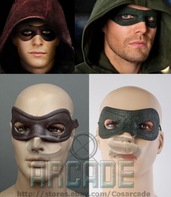 Green/Red Arrow Oliver Queen/Roy Harper Arsenal Eyeshade Mask Halloween Cosplay