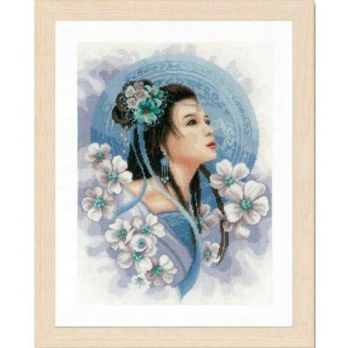 """Lanarte Stick envase /""""asiáticos mujer en azul/"""" con hilados pn-0169168"""