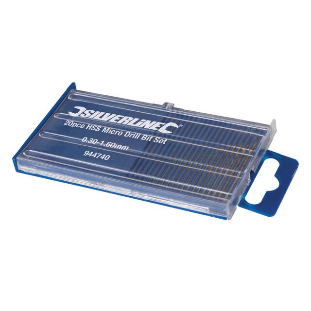Originale Silverline HSS Micro Set Punte Trapano 20 Pz 944740
