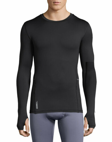 Duofold by Champion Brushed Back Men/'s Crewneck Thermal Black Varitherm X-Temp