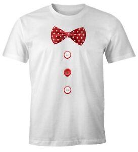 Herren-T-Shirt-Fliege-Knoepfe-Schleife-Clown-Fasching-Fastnacht-Karneval-Kostuem
