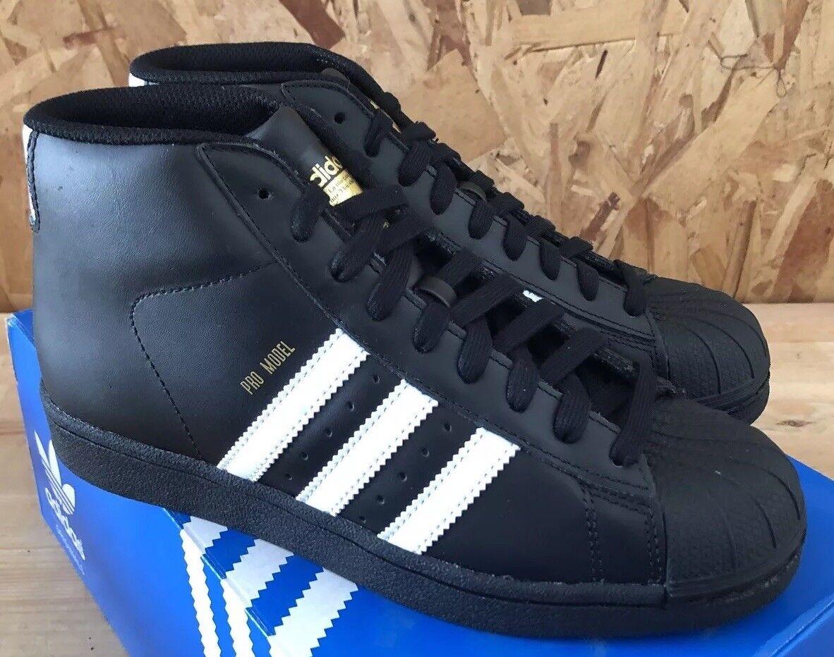 Adidas pro modello Bianco Nero oro Taglie 5.5 Nib B39368 Sautope classeiche da uomo