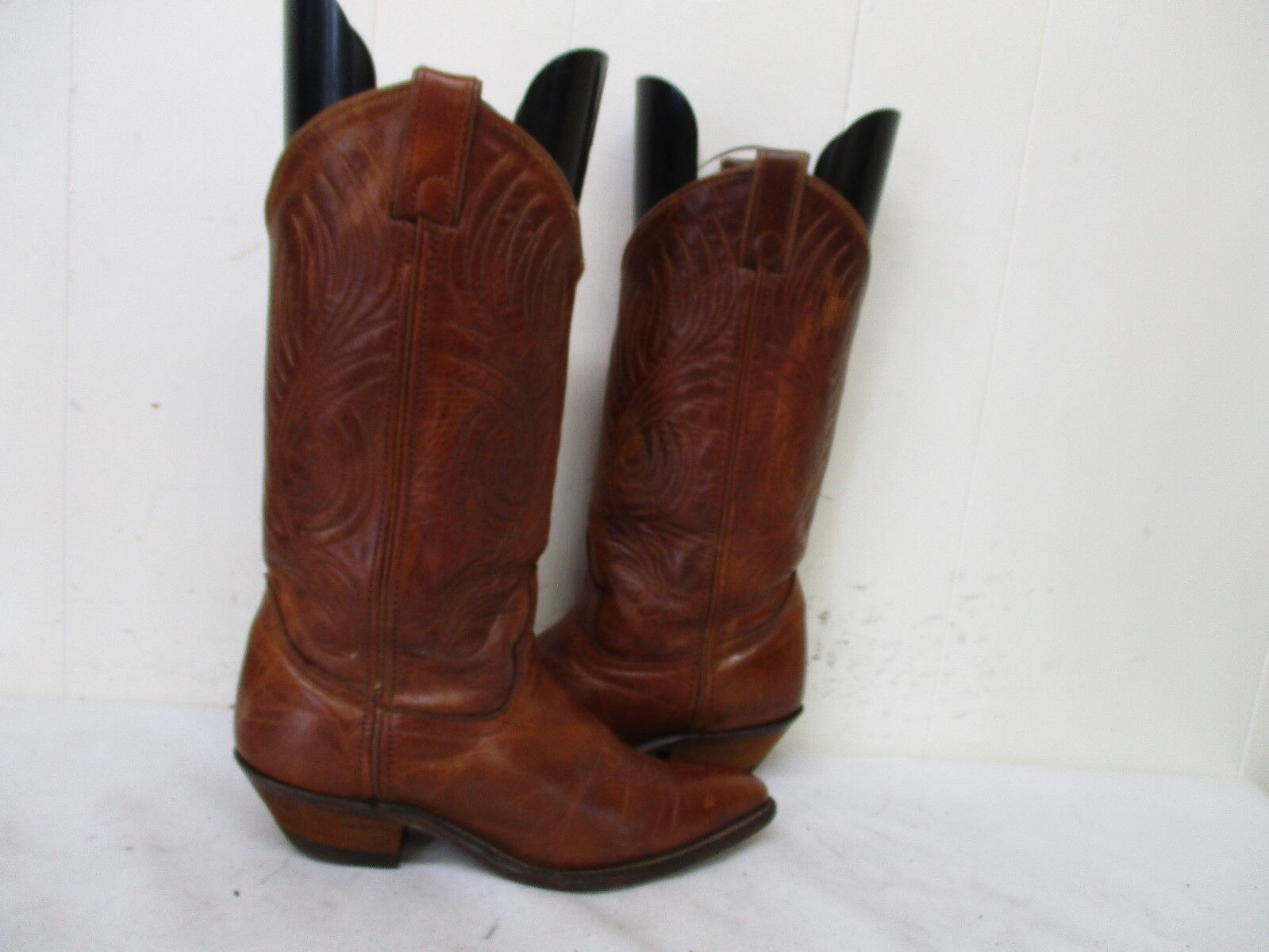 CODE WEST Brown Leather Cowboy Boots Womens Size 5.5 M Style 63695 USA