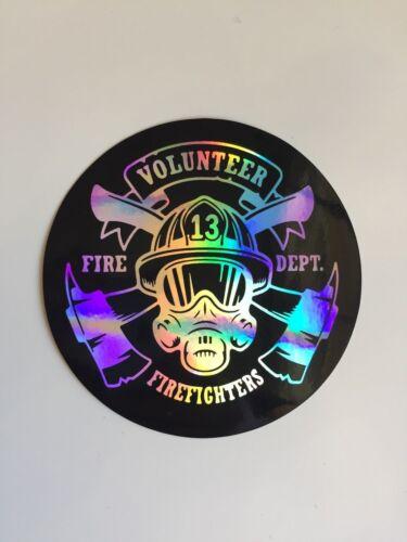 """Firefighter 3.5/"""" Sticker Decal Car 3D Reflective Bike Truck Volunteer Fireman"""