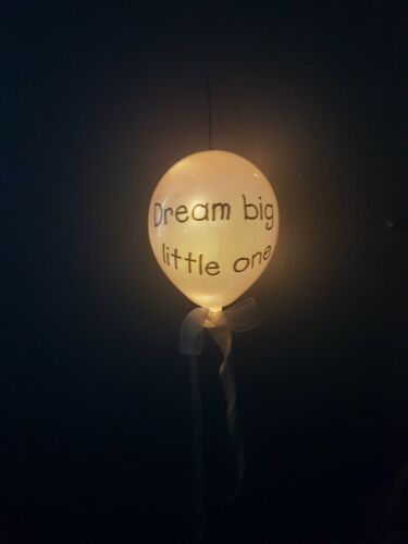 Personalised Hanging Irredescent Balloon Childrens baby night light gift present