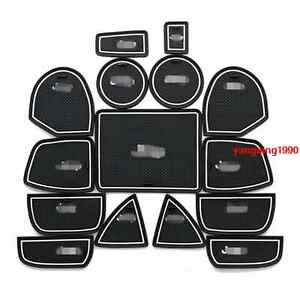 Interior door mat cup pads holder trim 15pcs for jeep - Jeep grand cherokee interior parts ...