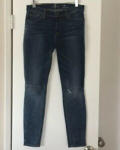 Womens-SEVEN-7-FOR-ALL-MANKIND-Gwenevere-Distressed-Skinny-Ankle-Jeans-Size-30-034