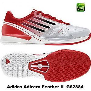 new style e95a2 3145e Das Bild wird geladen adidas-Adizero-Feather-2-Tennis-Herren-G62884