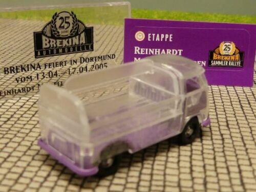 1//87 Brekina # 1026 VW T1 b GetrPr transparent Sondermodell Reinhardt